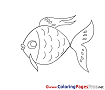 Fish Coloring Pages for free