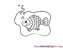 For Kids printable Fish Colouring Page