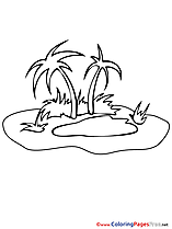 Island Sea Kids download Coloring Pages