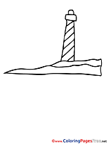 Lighthouse for Children free Coloring Pages