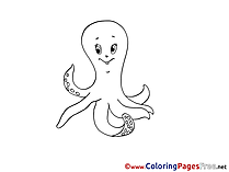 Octopus download printable Coloring Pages