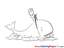 Whale Kids download Coloring Pages