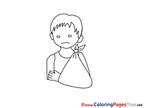 Bandage Coloring Sheets download free