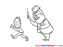 Boy Doctor Syringe free printable Coloring Sheets