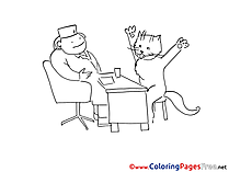 Cat Doctor for free Coloring Pages download