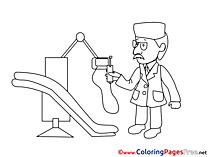 Medicine coloring pages