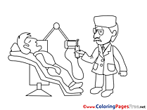 Dentist for Children free Coloring Pages