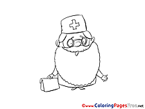 Doctor for Children free Coloring Pages