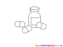 Drugs Kids free Coloring Page