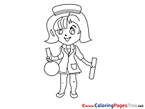 Girl Doctor Kids download Coloring Pages