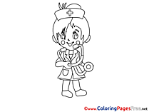 Girl Doctor printable Coloring Sheets download