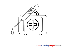 Kit Medicine Colouring Page printable free