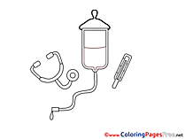 Medicine Kids download Coloring Pages