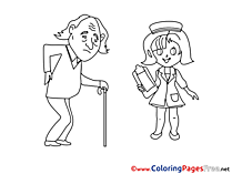 Nurse for free Coloring Pages download