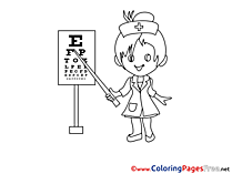 Oculist Coloring Sheets download free