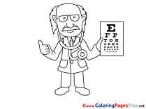 Oculist Kids download Coloring Pages
