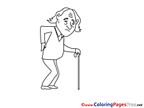 Old Man Colouring Sheet download free