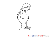 Overweight Man free Colouring Page download