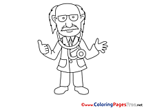 Pediatrician Colouring Sheet download free
