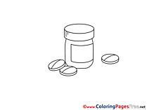 Pills Children Coloring Pages free