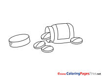 Pills free Colouring Page download