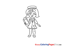 Printable Medicine Nurse Coloring Sheets download