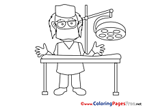 Surgeon free printable Coloring Sheets