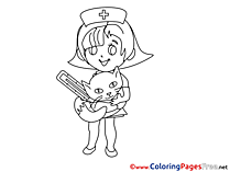 Vet Girl download printable Coloring Pages