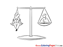 Balance Kids download Coloring Pages