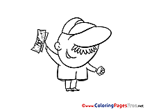 Dollars for Children free Coloring Pages