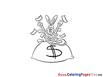 Dollars printable Coloring Sheets download