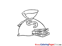 Money Coloring Pages for free