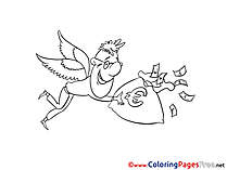 Wings Man Money printable Coloring Sheets download