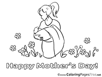 Baby printable Mother's Day Coloring Sheets