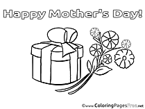 Bouquet Gift Kids Mother's Day Coloring Pages