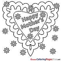 Card Holiday Children Mother's Day Colouring Page