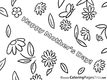 Card Holiday Coloring Sheets Mother's Day free