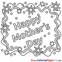 Colouring Sheet Card Holiday download Mother's Day