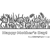 Felicitation Flowers download Mother's Day Coloring Pages