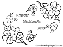 Felicitation Flowers Mother's Day Colouring Sheet free
