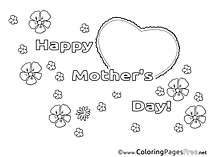 Felicitation free Mother's Day Coloring Sheets