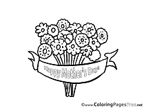 Flowers for Kids Mother's Day Colouring Page