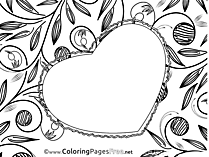 Heart Felicitation Children Mother's Day Colouring Page
