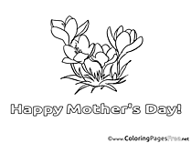 Holiday Flowers printable Coloring Pages Mother's Day