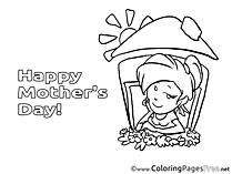 House Mom Coloring Pages Mother's Day for free