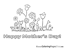 Meadow Flowers printable Mother's Day Coloring Sheets