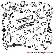 Mother's Day Coloring Pages  for free
