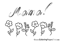 Mother's Day Flowers Coloring Page