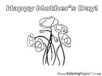Roses Coloring Sheets Mother's Day free