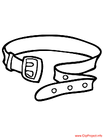 belt coloring page - objects coloring pages